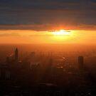 Sunset over London by Jonathan Gazeley