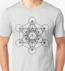 Metatron's Cube - Sacred Geometry Slim Fit T-Shirt