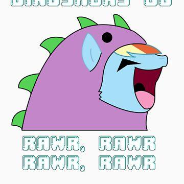 Rainbow Dash Rawr by Lunilight