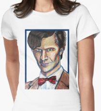 Matt Smith Doctor Who Van Gogh Womens Fitted T-Shirt