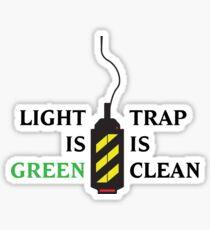 Ghostbusters - Light is Green, Trap is Clean Sticker