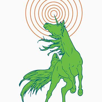Unicorns Rule (green) by Sydneyjstevens