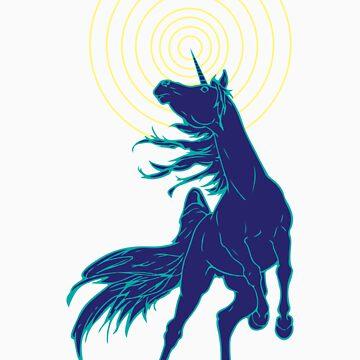 Unicorns Rule (blue) by Sydneyjstevens