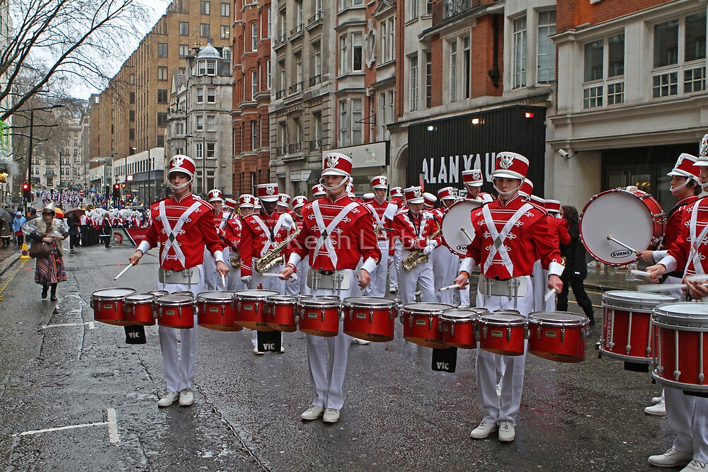 New Year's Day Parade leon high school band London 2014 by Keith Larby