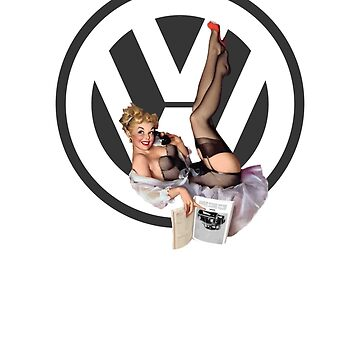 Volkswagen Pin-Up Chatty Cathy (gray) by sarahrulon
