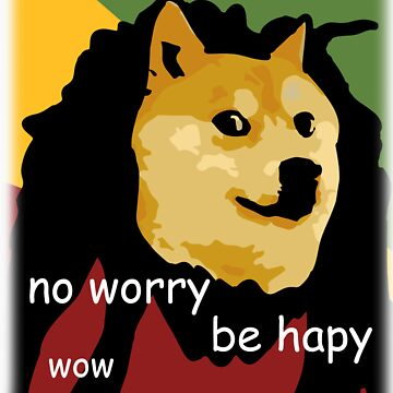 Bob Marley Doge (Transparent Edges) by LIKE
