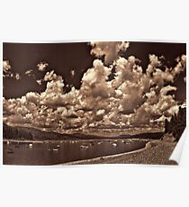Cloud Parade Over Jackson Lake (B&W) Poster