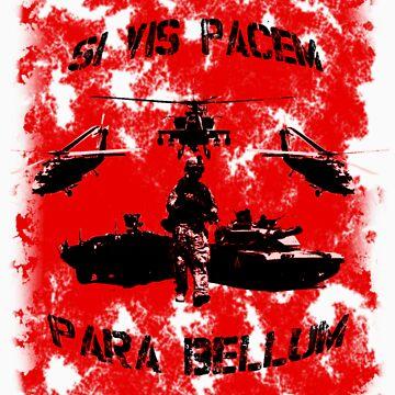 Si vis pacem para bellum USA red w. black font by freshi85