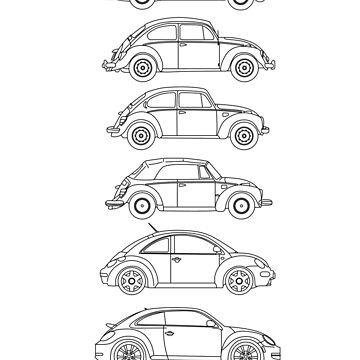 Evolution of the Volkswagen Beetle by sarahrulon