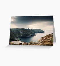 Coastline near Tintagel (September) Greeting Card