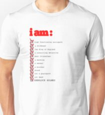 I AM: sherlock holmes T-Shirt