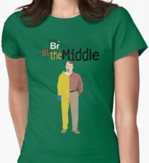 Breaking In The Middle Women's Fitted T-Shirt