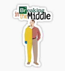 Breaking In The Middle Sticker