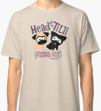 Pug Head Tilt (Blue and Purple) Classic T-Shirt