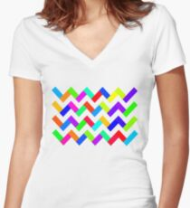 CoolColours Women's Fitted V-Neck T-Shirt