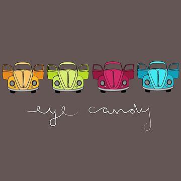 Eye Candy-dark tee by sarahrulon