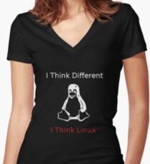 I think Linux Women's Fitted V-Neck T-Shirt