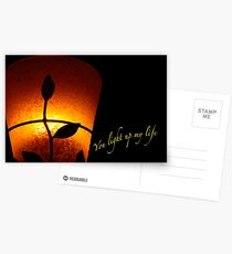 SOLD - YOU LIGHT UP MY LIFE Postcards