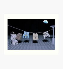 Lunar Laundry Day Art Print