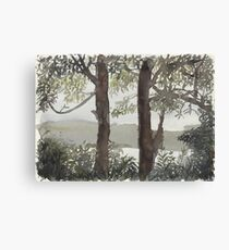 Smith's Lake Trees Canvas Print