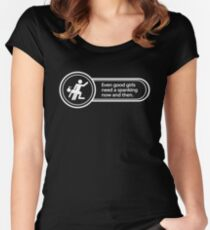 [M/f] Good girls need spanking, too! Women's Fitted Scoop T-Shirt