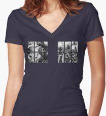 Knock, knock. Women's Fitted V-Neck T-Shirt