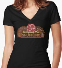 Everyday I'm Shuffling Women's Fitted V-Neck T-Shirt