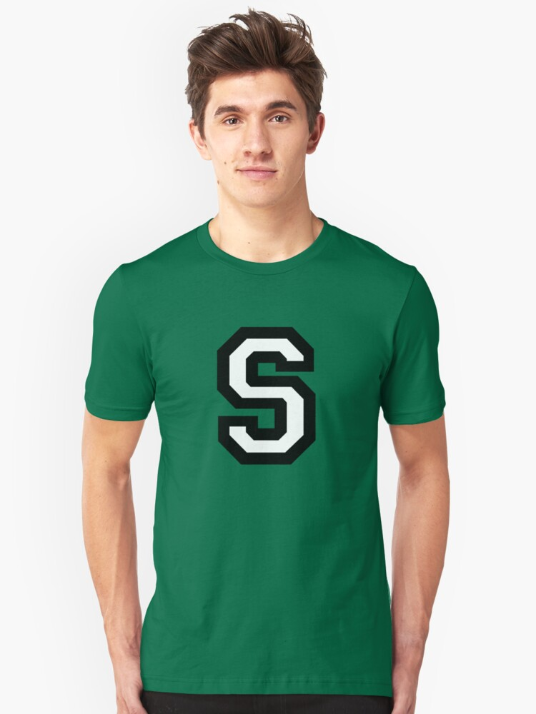 Letter S two-color by theshirtshops