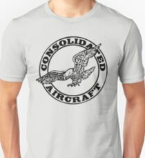 Consolidated Aircraft Logo (Black) Unisex T-Shirt