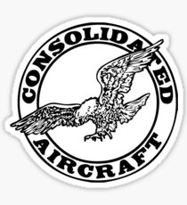 Consolidated Aircraft Logo (Black) Sticker