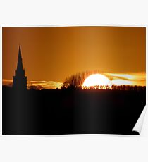 Sunset over Haconby Poster
