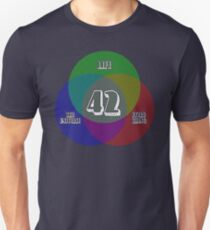 NEW Venn Diagram: Life, the Universe & Everything (for dark shirts) Unisex T-Shirt