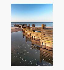 Norfolk groyne Photographic Print