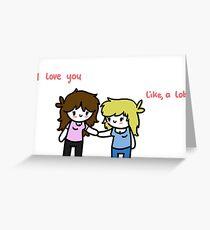 Girlfriend Valentine Greeting Card