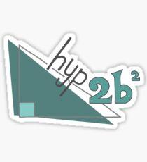 Hyp 2b(squared) - green Sticker