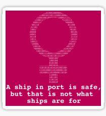 Grace Hopper Code Quote Sticker