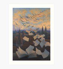 Flying Over City Art Print