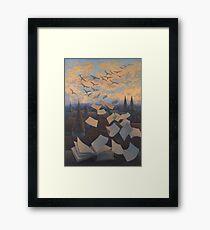 Flying Over City Framed Print