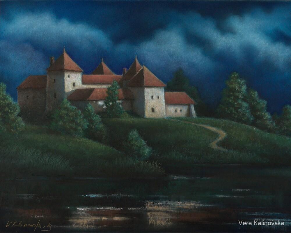 Night View Of Svirzh Castle by Vira Kalinovska
