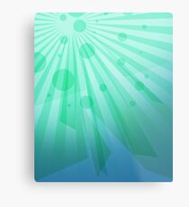 Bright Green iPad Design Metal Print