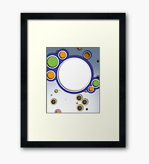 Bright Color Circles Framed Print
