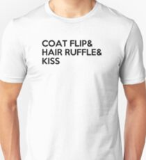 COAT FLIP & HAIR RUFFLE & KISS Unisex T-Shirt