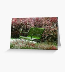 """""""Bench"""" by Carter L. Shepard Greeting Card"""