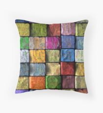Colored Bricks Throw Pillow
