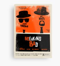 Breaking Blues: A Blues Brothers parody poster Metal Print