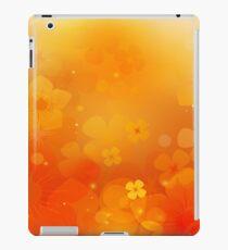 Orange Floral Display iPad Case/Skin