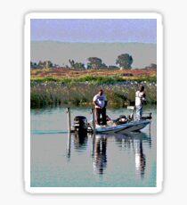 Delta Bass Boat Fish'n Sticker
