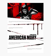 American Mary Audition Style Poster Photographic Print
