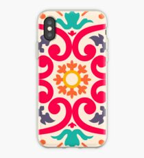 Seamless colourful ornament tiles iPhone-Hülle & Cover