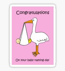 Congratulations on Baby Naming Day (for a Girl). Sticker